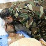 عیادت امیر حیدری از سربازان مجروح حادثه پادگان آبیک!