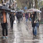 بارش باران در روزهای گرم و تابستانی رشت!