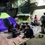 شبنشینی اجباری کاسبان پلاسکو | کشیک برای حفظ اموال بجا مانده!