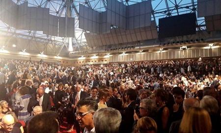اجرای باشکوه سرود ملی ایران در حضور ۴ هزار ایتالیایی! + فیلم