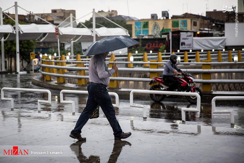 باران تابستانی در تهران