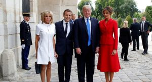 ترامپ و رئیس جمهور فرانسه با همسرانشان در گران ترین رستوران پاریس!