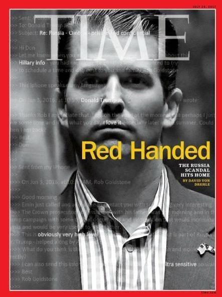 پسر ترامپ روی مجله تایم