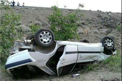 واژگونی خودرو در محور شاهرود میامی