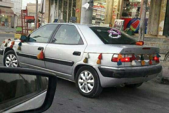 ماشین عروس در بوشهر