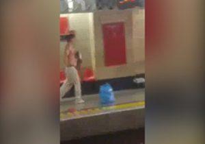 لحظه شلیک پلیس به مهاجم متروی شهرری! + فیلم