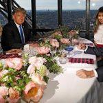 ضیافت شام نجومی ترامپ و ماکرون در برج ایفل!