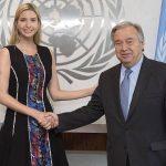 دیدار ایوانکا ترامپ با دبیرکل سازمان ملل
