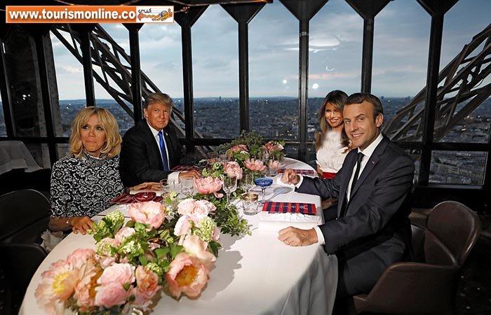 دونالد ترامپ و همسرش در فرانسه