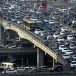 ترافیک سنگین تهران در دهه ۴۰