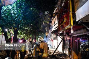 ریزش ساختمان ۲ طبقه مسکونی در تهران!