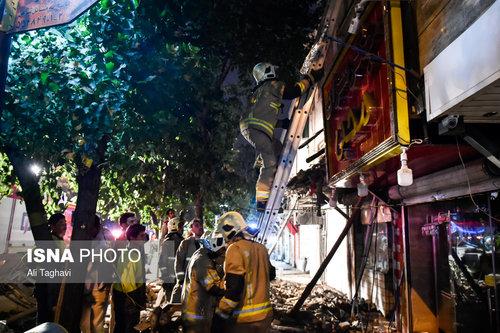 ریزش ساختمان 2 طبقه مسکونی در تهران!