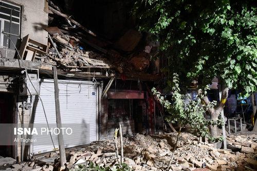 ریزش ساختمان در تهران