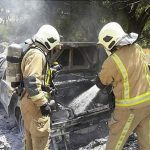 آتش گرفتن پژو 405 در اتوبان تهران – قم