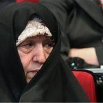 عفت مرعشی همسر هاشمی رفسنجانی مهمان مراسم تحلیف