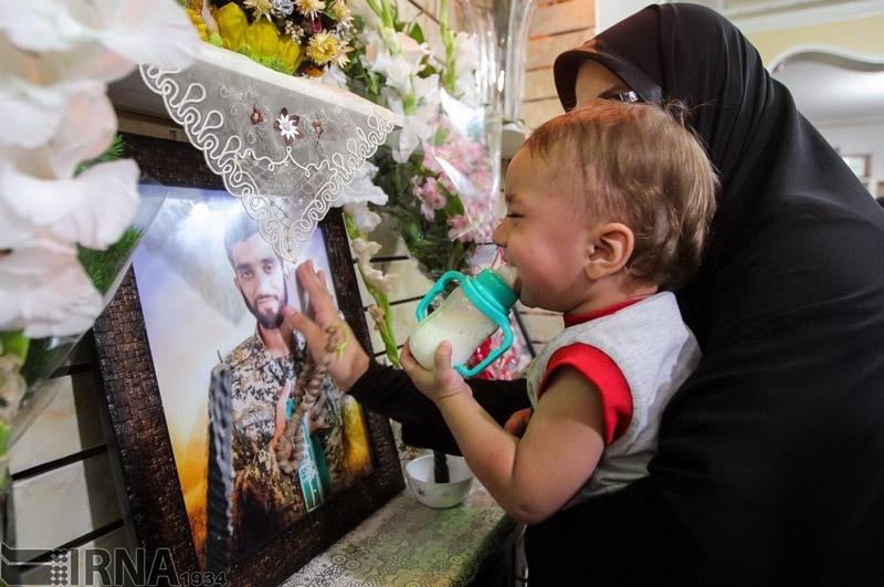 منزل پدر شهید حججی