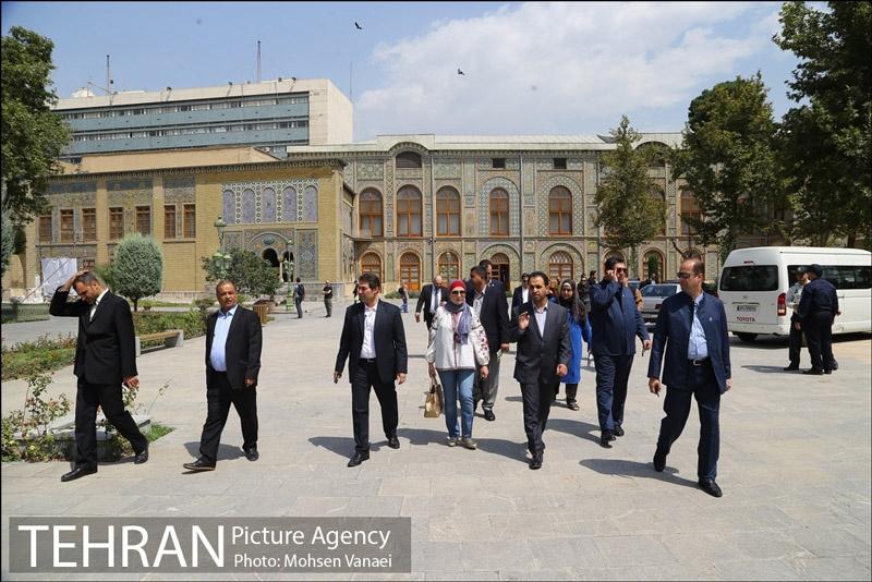 گشت و گذار شهردار بغداد در تهران