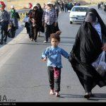 زائران پیاده حرم رضوی