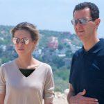 بشار اسد و همسرش در شهر ساحلی طرطوس