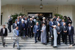 وزیران دولت یازدهم با رئیس جمهور عکس یادگاری گرفتند