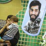 حجله شهید حججی در حسینیه هنر تهران
