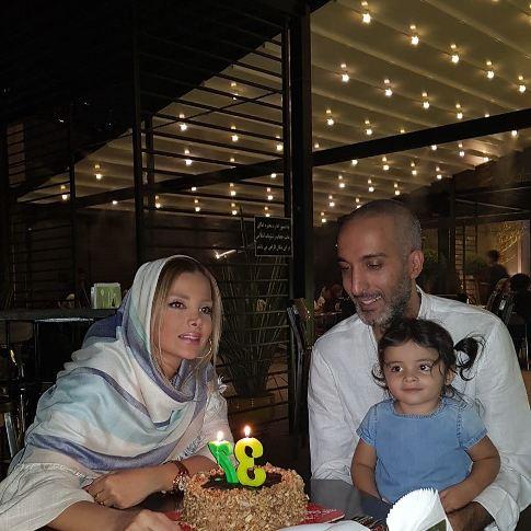 جشن تولد 37 سالگی امیرمهدی ژوله در کنار همسر و فرزندش/ عکس