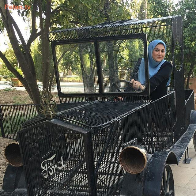 ماشین سواری سوسن حسنی دخت