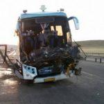 تصادف مرگبار اتوبوس با تریلی در آزادراه تبریز-زنجان!