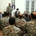دیدار فرماندهان پدافند هوایی ارتش با رهبرانقلاب