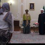 پوشش متفاوت رئیس مجلس آفریقای جنوبی در دیدار با روحانی