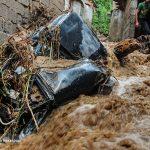 تصاویری از خسارات سیل در لنگرود