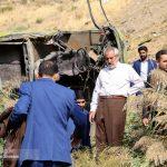 تصاویری از سقوط مرگبار اتوبوس به دره جاجرود