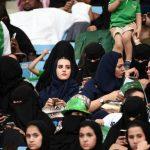 ورود زنان عربستانی به استادیوم ورزشی برای نخستین بار!