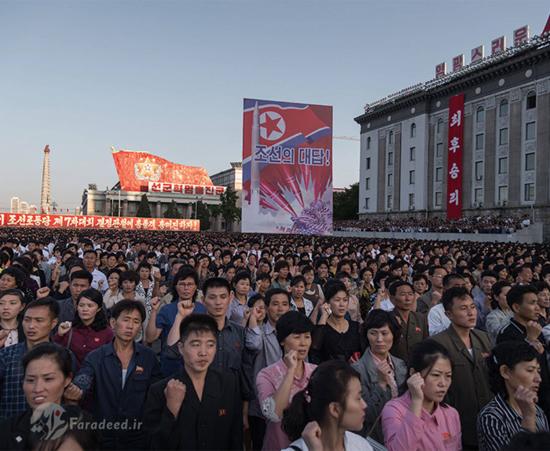 تظاهرات در کرهشمالی علیه ترامپ