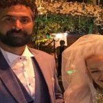 بهاره رهنما و همسر جدیدش در یک مراسم