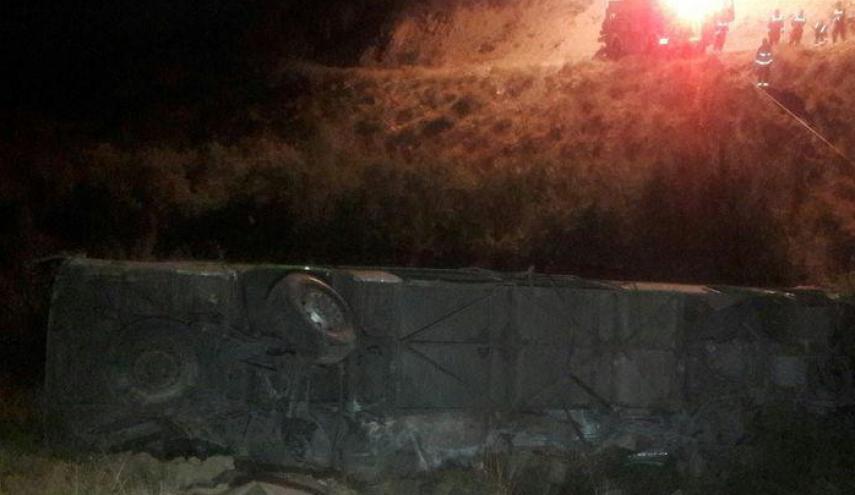 سقوط اتوبوس به دره در جاجرود