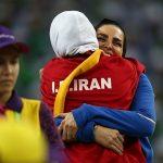 کشتی گرفتن بانوی ایرانی در مسابقات داخل سالن ترکمنستان