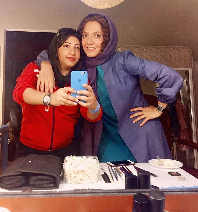 مهناز افشار در پشت صحنه لس آنجلس تهران