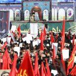 حضور عباس جدیدی در مراسم تشییع شهید حججی