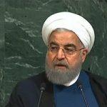 سالن سازمان ملل حین سخنرانی حسن روحانی