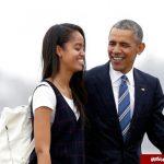 دختر بزرگ اوباما اشک او را درآورد!