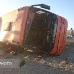 علت واژگونی اتوبوس دانش آموزان هرمزگانی!
