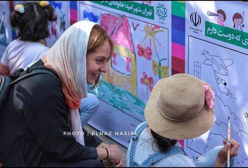 مهناز افشار در جشنواره طولانی ترین نقاشی