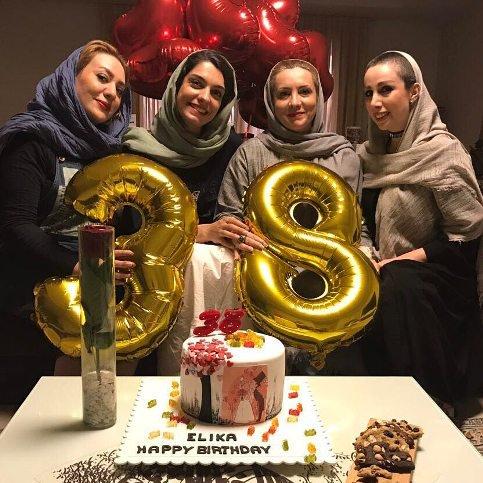 جشن تولد الیکا عبدالرزاقی