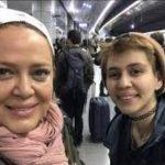 بهاره رهنما به دیدار دخترش پریا در اتریش رفت!