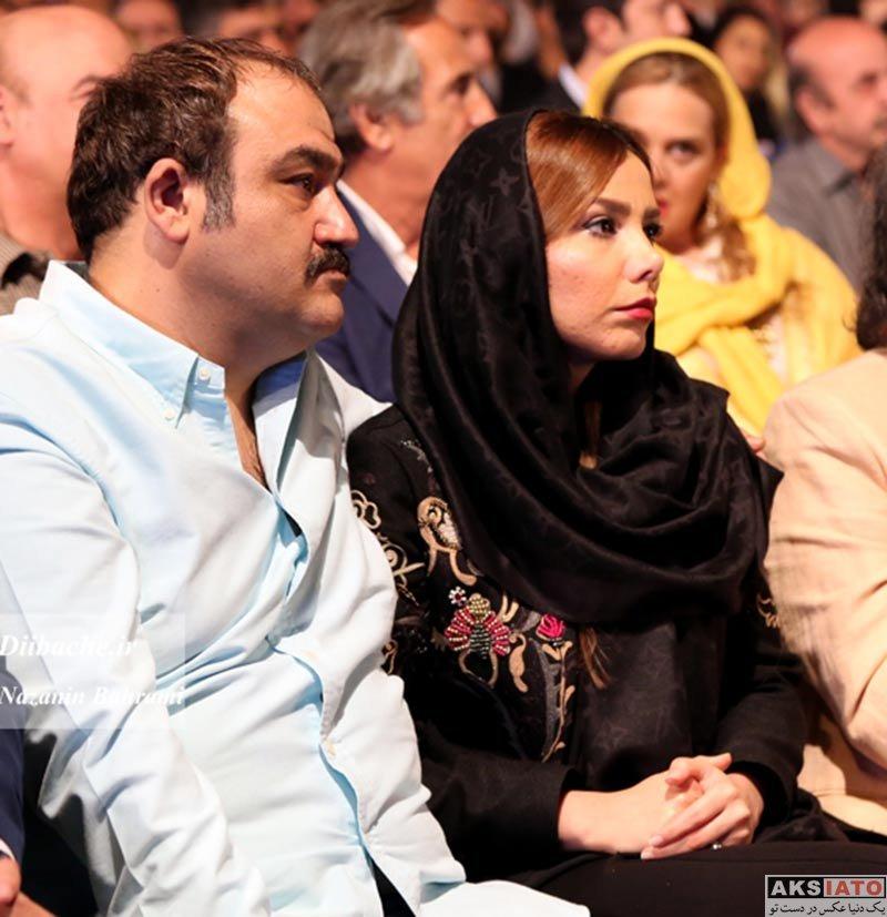 مهران غفوریان و همسرش در نوزدهمین جشن خانه سینما