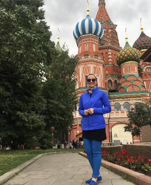نفیسه روشن در مسکو روسیه