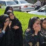 مراسم تشییع دو جانباخته اتوبوس دانشآموزان