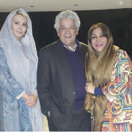 رضا فیاضی و همسرش