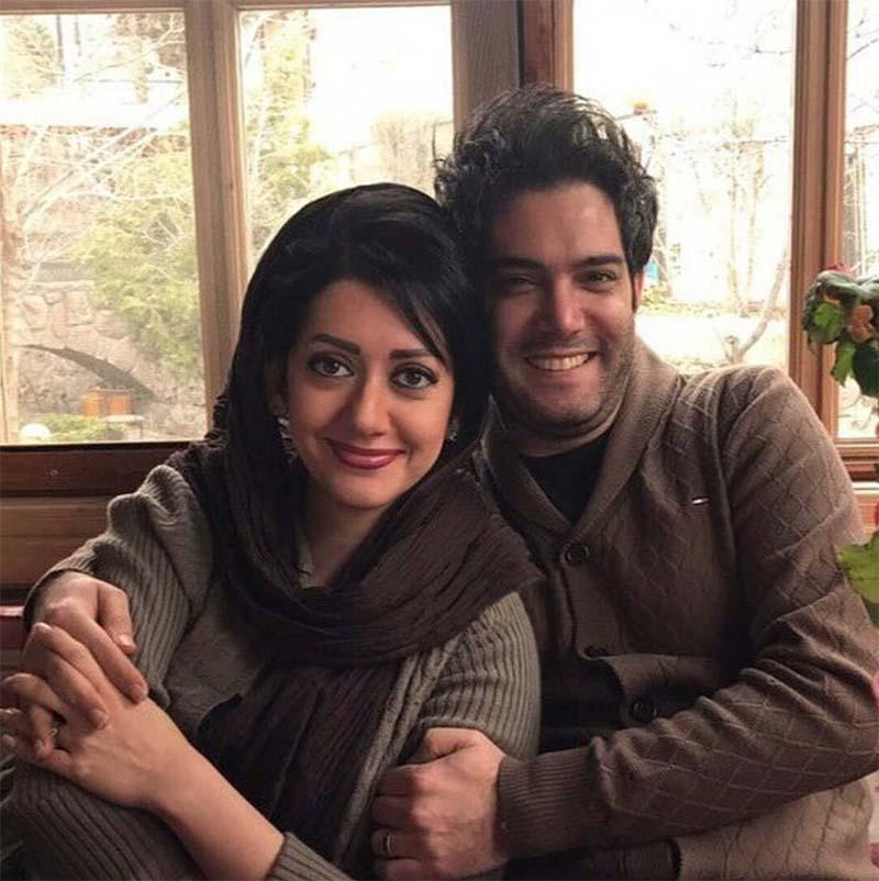 عکس امیرعلی نبویان و همسرش